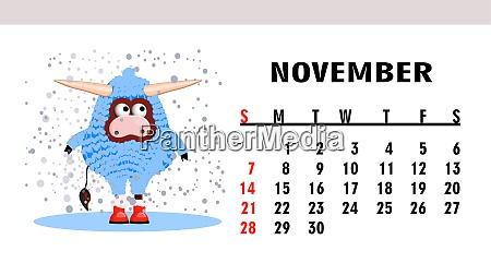 kalenderseite 2021 kalender horizontal mit bullen