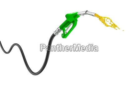 benzinpumpe isoliert auf weiss