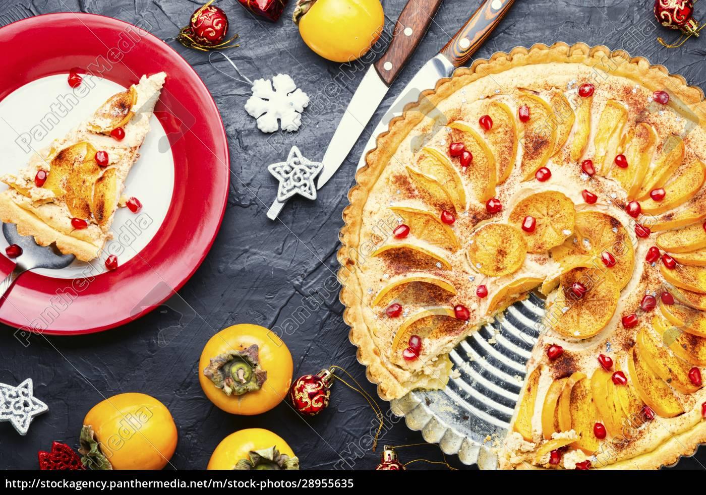 weihnachten, persimmon, kuchen - 28955635