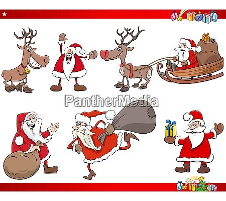 cartoon santa claus weihnachten feiertage zeichen