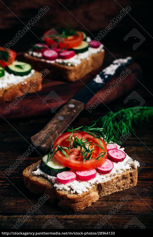 vegetarische, sandwiches, mit, frischem, gemüse - 28964133