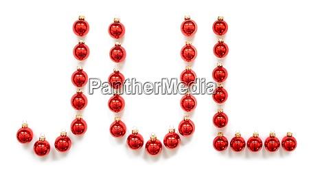 rote weihnachten ball ornament gebaeude jul