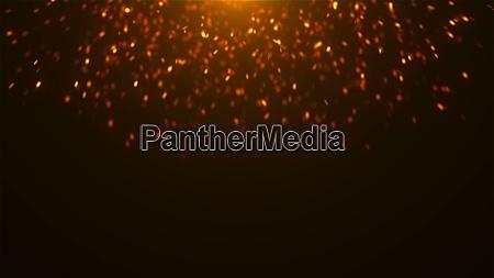 gold glitzert im raum viele partikel