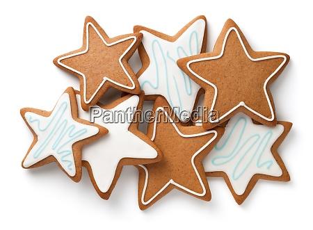 zusammensetzung von lebkuchen stars isoliert auf