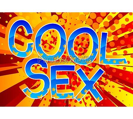 coolsex comic buch stil cartoon worte
