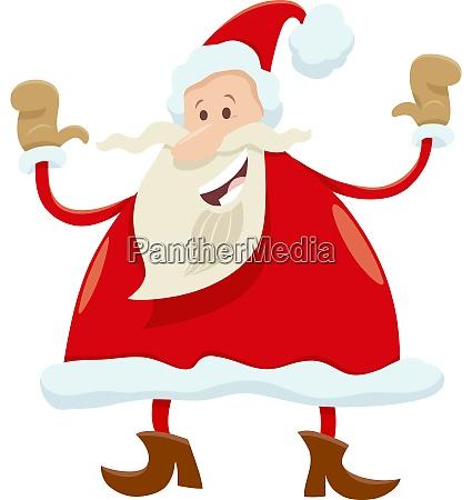 gluecklich santa claus cartoon figur auf
