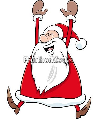 cartoon gluecklich weihnachtsmann charakter auf weihnachten
