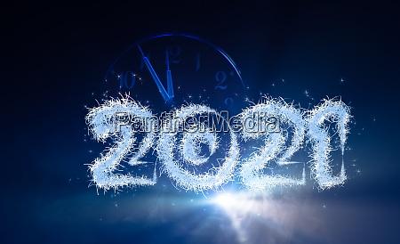 silvester hintergrund mit jahr 2021 und