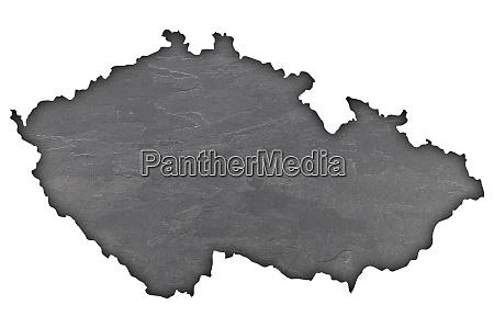 karte von tschechische republik auf dunklem
