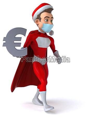 spass super weihnachtsmann mit einer maske