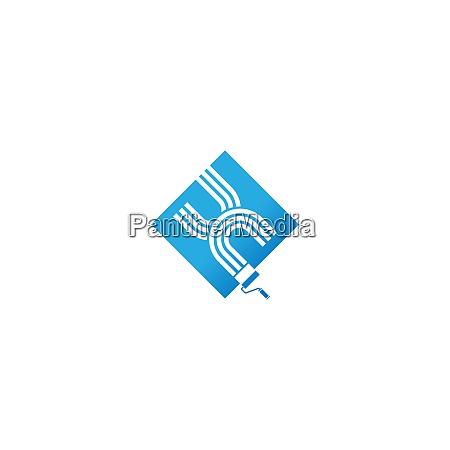 paint logo schriftdesign konzept