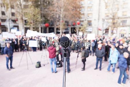protest oder oeffentliche demonstration