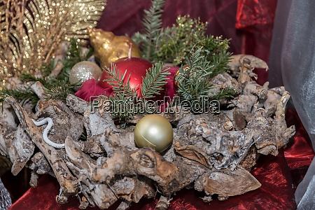 rustikale weihnachtskranz als dekoration