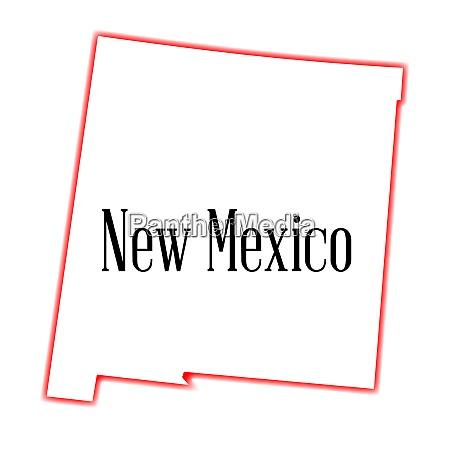 new mexico state umrisskarte