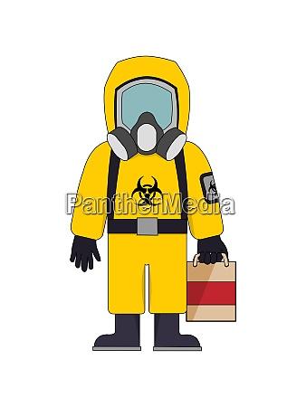 biohazad anzug mit tasche