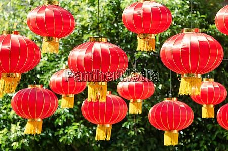 laterne dekoriert chinesisches neues jahr