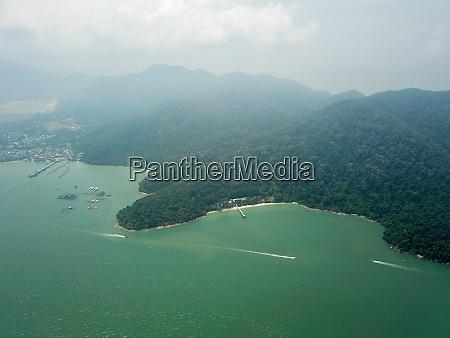 drohnenansicht penang nationalpark