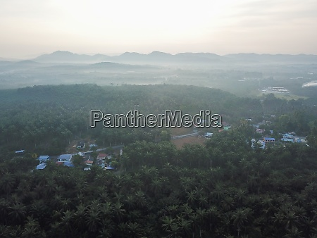 ein malaiesdorf auf dem land