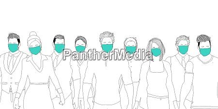gesundheitspersonal traegt chirurgische maske