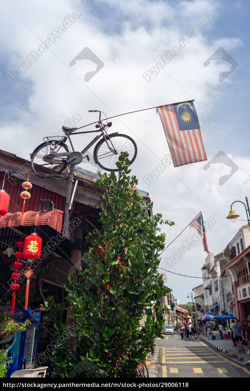 malaysia-flagge, mit, fahrrad, geschmückt - 29006118