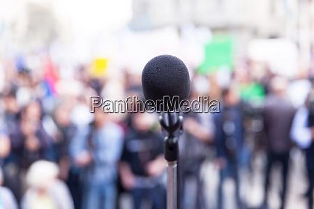 protest oder politische kundgebung