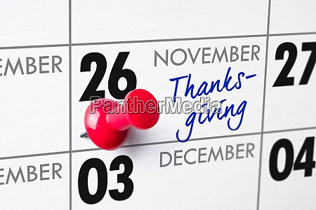 thanksgiving day 26 november