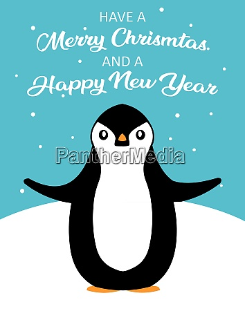 frohe weihnachten pinguin