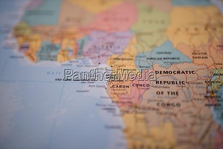 AEquatorialguinea auf einer bunten karte von