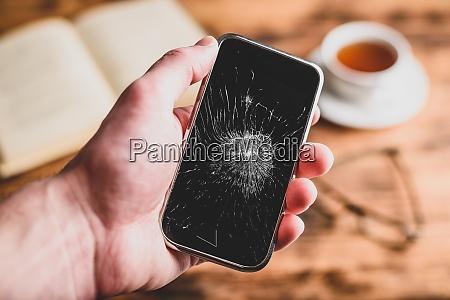geknacktes smartphone