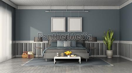 frontansicht eines modernen schlafzimmers