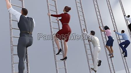 klettern, auf, der, unternehmensleiter - 29023388