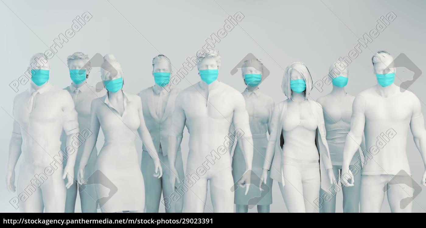 menschen, die, gesichtsmasken, tragen - 29023391