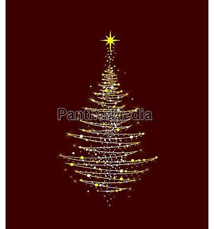 weihnachtsbaum, leuchtet, golden - 29023567