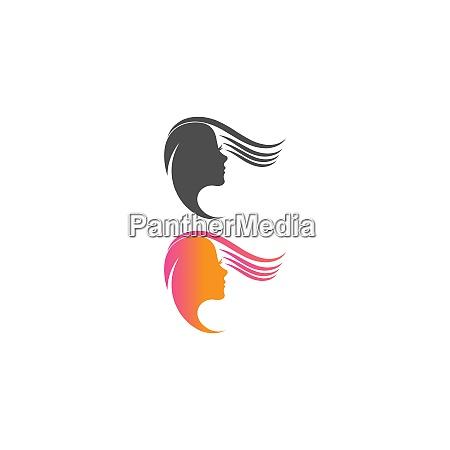 schoenheit haut symbol logo design