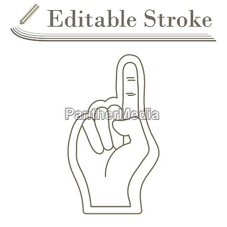 american football schaum finger icon