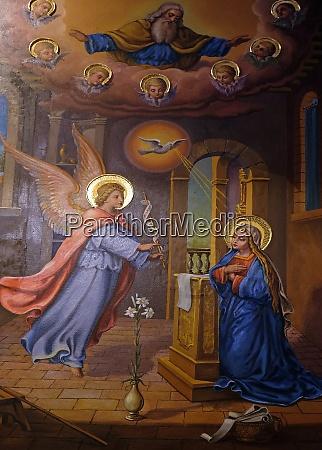 verkuendigung der jungfrau maria fresko in