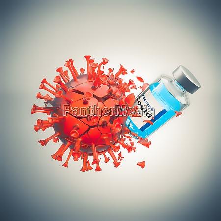 impfstoff wirkt zerstoert und besiegt das