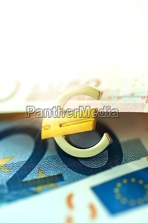 euro symbol und euro scheine
