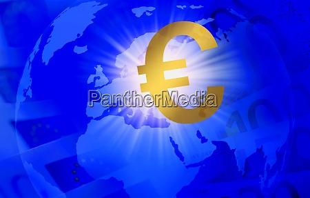 euro symbol rund um den globus