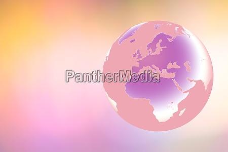 globe zeigt europa und afrika auf