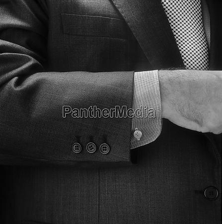 mann anzug detail