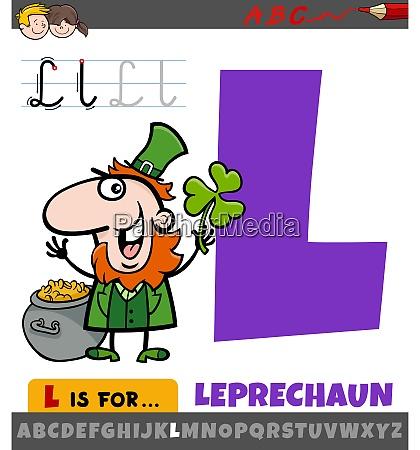 buchstabe l aus alphabet mit cartoon