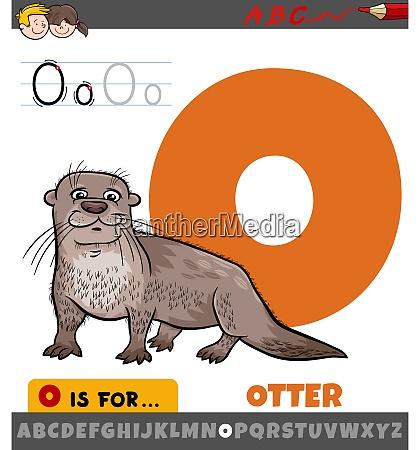 buchstabe o aus alphabet mit ottertiercharakter