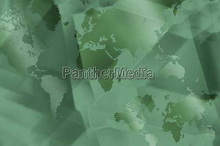 gruene abstrakte digitale weltkarte