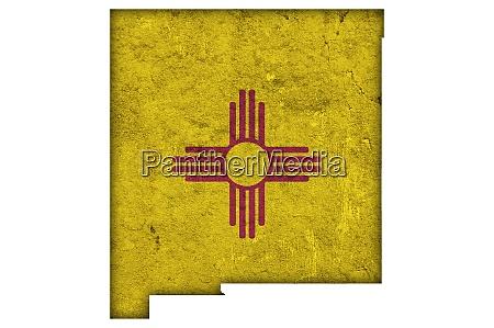 karte und flagge von new mexico