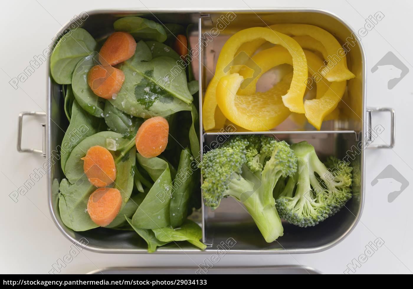 frisches, gemüse, in, der, lunchbox - 29034133