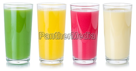 sammlung von fruchtsaft trinken getraenke in