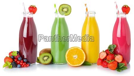 fruchtsaftsaefte trinken getraenke getraenkeflaschen isoliert auf