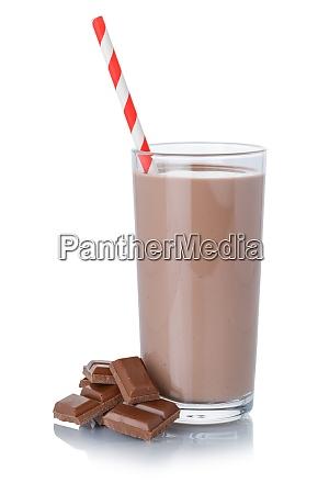 schokoladenmilch shake milchshake in einem glas