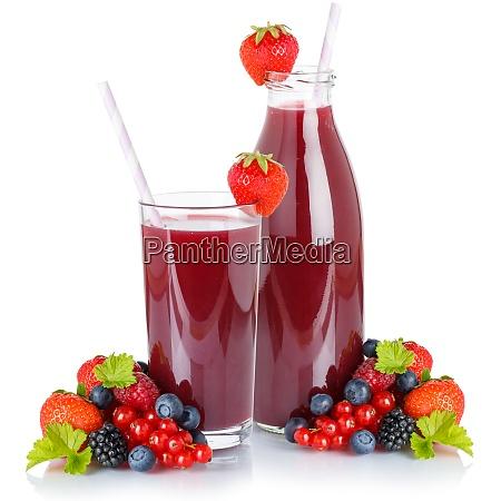 berry smoothie frische fruechte fruchtsaft trinken